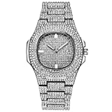 Patek Philippe Nautilus Iced Out Watch CZ LAB Diamond (White Gold)