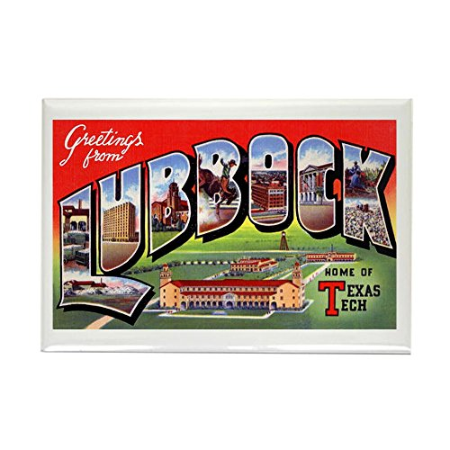 CafePress Lubbock Texas Greetings Rectangle Magnet Rectangle Magnet, 2