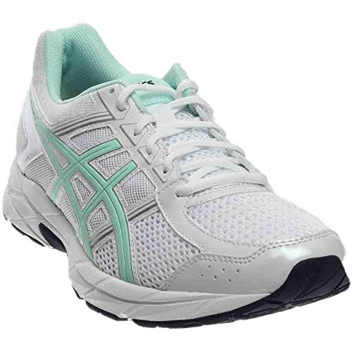 ASICS Women's Gel-Contend 4 Running Shoe, White/Bay/Silver, 8 M US
