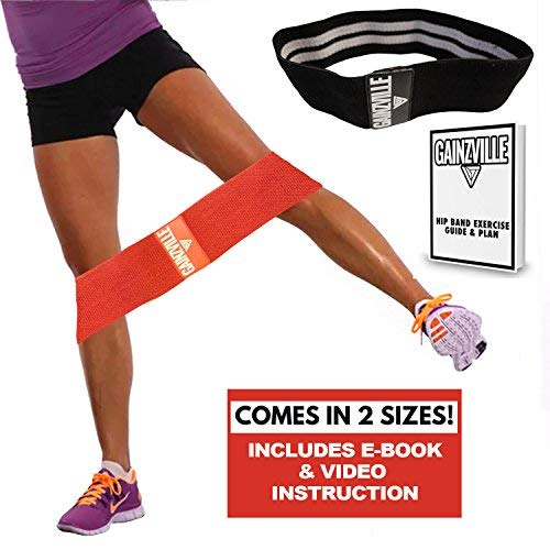 Hip Resistance Circle - Hip Band 2-Pack | Warmup, Workout & Exercise Loop for Women & Men| Dynamic Glute Activation to Build Perfect Butt, Booty, Thighs & Legs | Non Slip Fabric | 13
