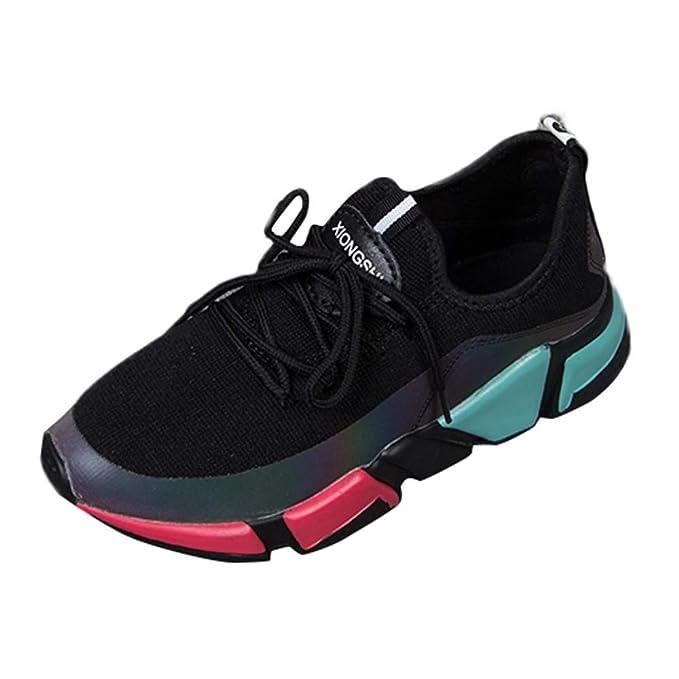 POLP Calzado Zapatos con Cordones Mujer Zapatillas Running para Mujer Aire Libre y Deporte Transpirables Invierno Casual Zapatos Gimnasio Correr Sneakers ...