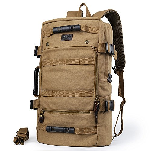 Montañismo bolsa bolsa exterior multifuncional bolsa de viaje hombre de Mochila bolsa de viaje bolsa de la lona al hombro gran capacidad caqui Khaki