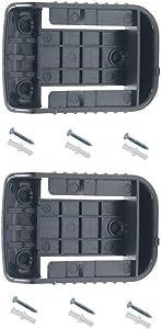 weqcter Battery Ready Dock/Mount Holder for Dewalt 20V 60V Battery Adapter Dock Holder 2packs (No Battery)
