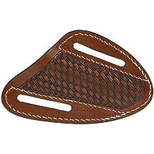 Western Fashion Tack Ranger Belt Co. Slanted Pancake Basketweave Knife Sheath