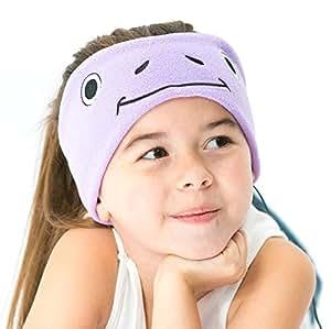 Cozyphones Kids Headphones Volume Limited with Ultra-Thin Speakers And Soft Fleece Headband - Purple Froggy