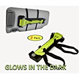 Be Safe This Winter! NEVER TRAPPED - TWO CarPOW Glow-In-The-Dark Emergency Car Safety Hammers Seatbelt Cutter and Window Breaker