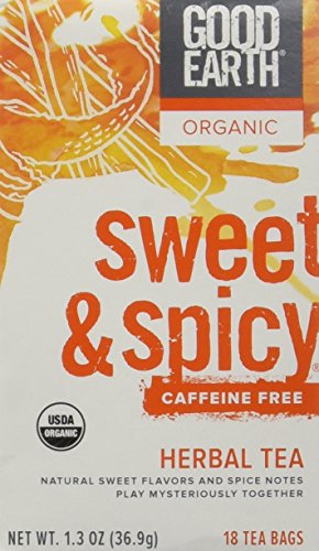 Good Earth Teas Organic Sweet and Spicy Caffeine Free Herbal 18 Tea Bags, 4 (Good Earth Sweet)