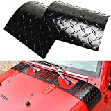 Nicebee 2Pcs Car Side ABS Black Body Armor Side Cowl Cover For Jeep Wrangler JK Unlimited 2007-2016