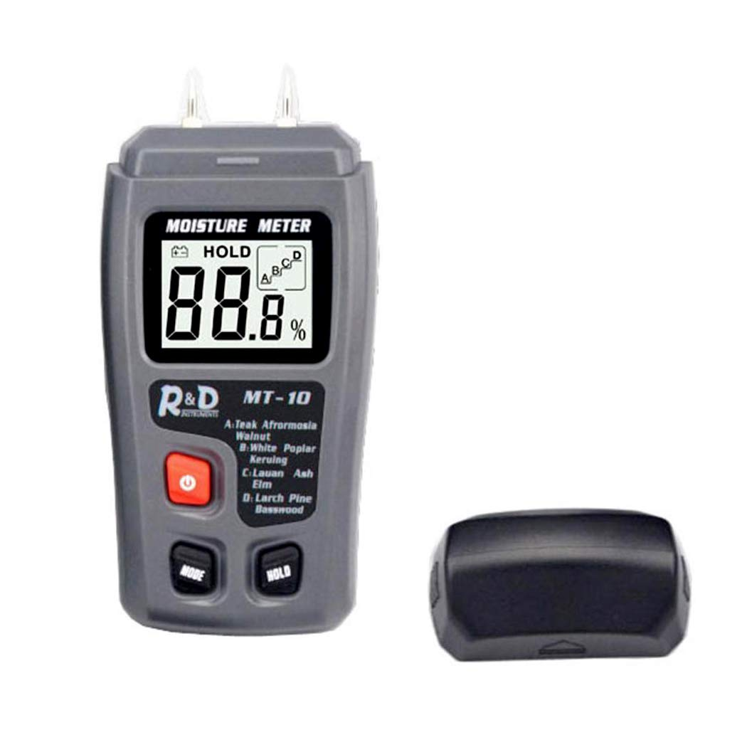 Dicesnow Pro Digital Moisture Meter with LCD Screen Test Moisture in Firewood, Logs, Furniture, Floor, Trees 0%-99.9% (Battery Included)