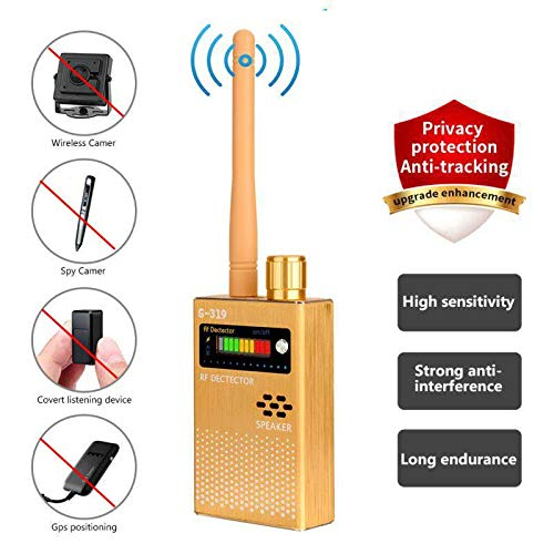(Eilimy Anti-Spy Wireless RF Signal Detector Set [2019 Latest Upgrade] Bug GPS Camera Signal Detector,for Hidden Camera GSM Listening Device GPS Radar Radio Scanner Wireless Signal Device Finder)