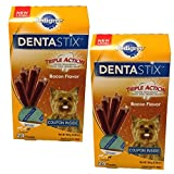 Pedigree Dentastix Bacon Flavor Toy/Small Treats for Dogs - 2 Pack