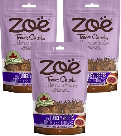 Image of (3 Pack) Zoe Turkey and Beets Dog Treats - 5.2 Ounces each