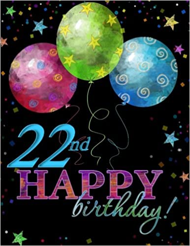 22nd Happy Birthday Celebration Memory Album Card In All Departments22nd Party Supplies Departments