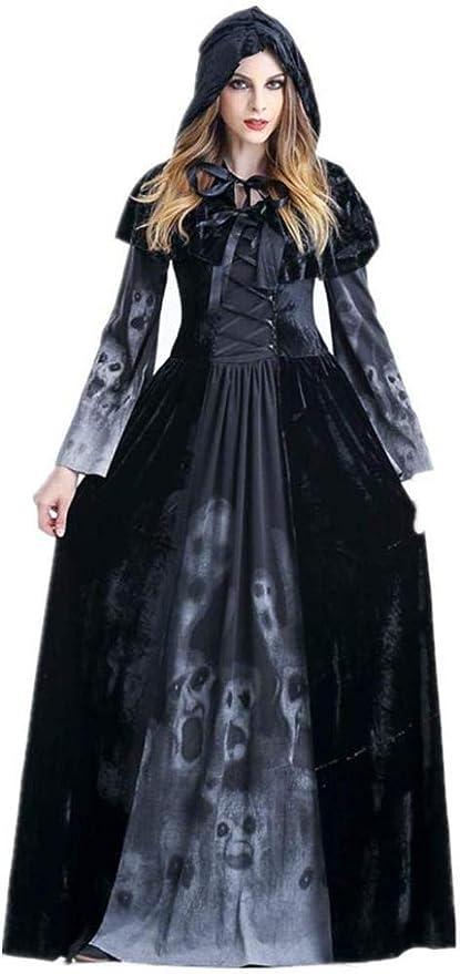 RAXYQ Disfraz de Bruja de Halloween Disfraz de Payaso de Encaje ...