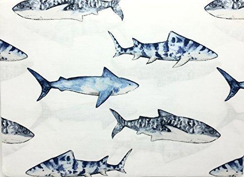 Cover Cotton 134 (Boat House Shark School Children's All Cotton Twin Size 3-Piece Sheet Set)