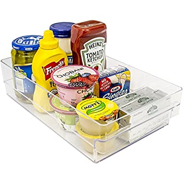 Sorbus Fridge Bins and Freezer Organizer Refrigerator Bins Stackable Storage Containers BPA-Free Drawer Organizers for Refrigerator Freezer and Pantry Storage
