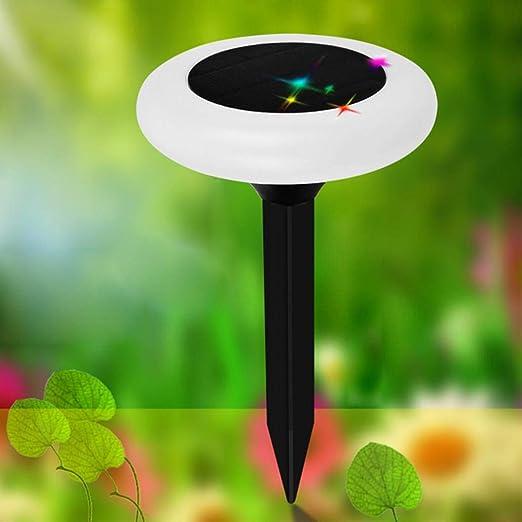 LC-lights 4 Piezas Solar LED Foco proyector lámpara para Exterior Patio jardín césped Calle: Amazon.es: Jardín