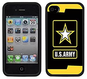 Army Logo USA Handmade iPhone 4 4S Black Case