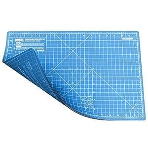 Cutting Mat, Self Healing Cutting Mat, Hobby Cutting Mat, Sewing Cutting Mat, Double Sided 5 Layers Eco Friendly Cutting Mat Imperial/Metric 17 Inch x 11 Inch/(44 cm x 29 cm) A3 - True Blue/Sky Blue