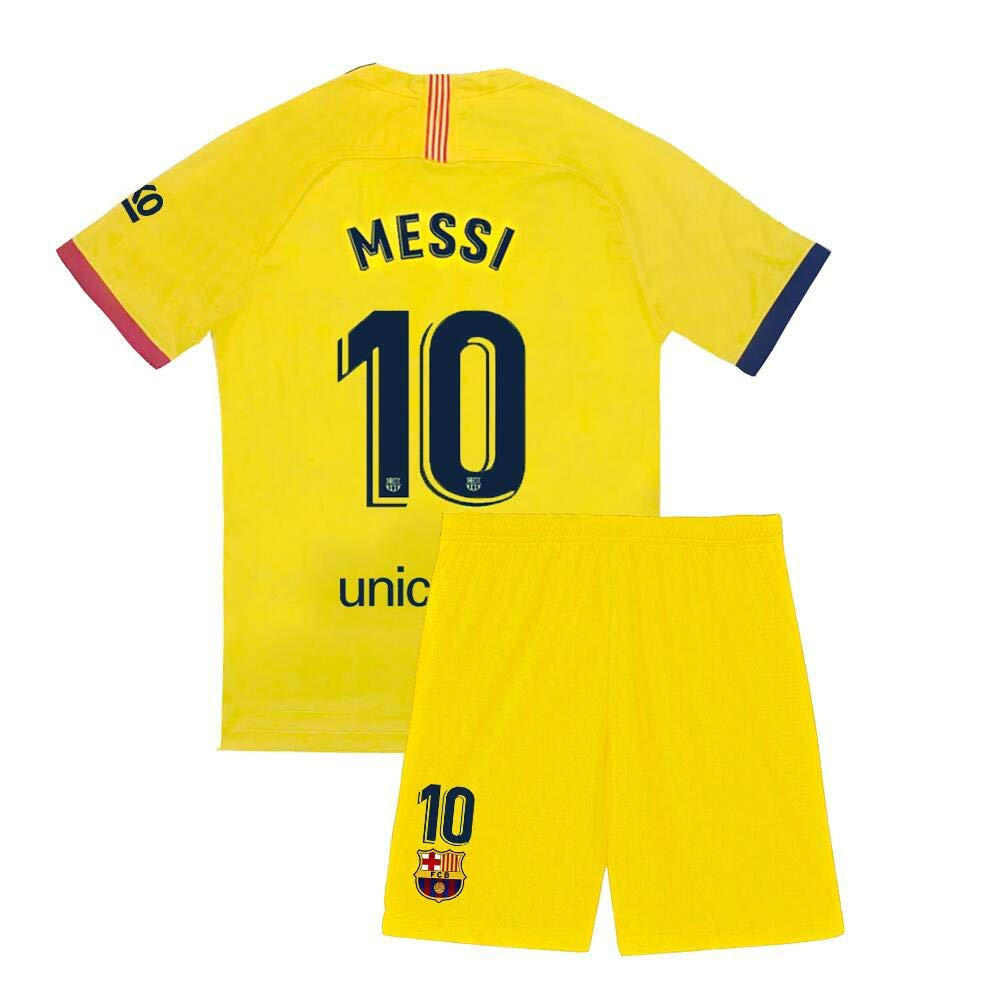 Youth Messi Jersey 10 Kids Barcelona Soccer 2019-2020 Away Shorts Lionel