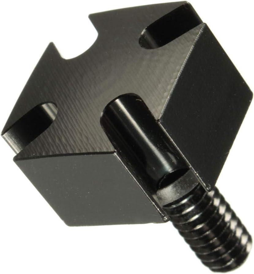 RENCALO Tornillos de Montaje del Perno del Asiento Tapa de Aluminio Billet s/ólido 3 Colores para Harley-Black
