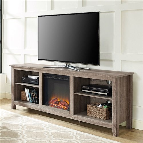 Cheap Driftwood 70-inch TV Stand Space Heater Electric Fireplace Black Friday & Cyber Monday 2019