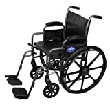 Medline Easy-to-Clean and Durable Wheelchair with Desk-Length Arms and Swing-Away Leg Rests