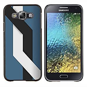 Caucho caso de Shell duro de la cubierta de accesorios de protección BY RAYDREAMMM - Samsung Galaxy E5 E500 - Líneas