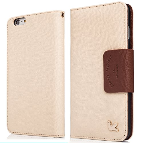 iPhone 6 Plus Case, iPhone 6s Plus Case,[Upgraded-Opened Volume and Power Button Ports,No Break Issue] By HiLDA,Wallet Case,PU Leather Case,Credit Card Holder,Flip Cover Case[Brown]