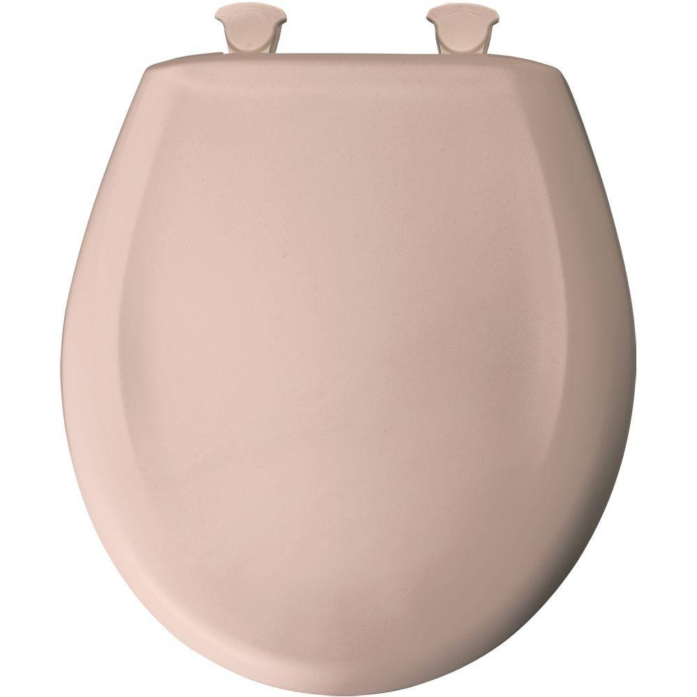 on sale Bemis 200SLOWT 063 Round Closed Front Toilet Seat, Venetian Pink