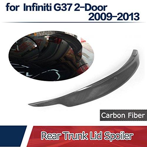 jcsportline Rear Trunk Lid High End Custom JDM Spoiler fits Infiniti G37 Q60 Coupe 2008-2015 (Carbon -