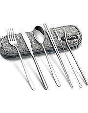 Portable Flatware Cutlery Set Dinnerware Tableware Spoon Fork Knife Chopsticks Set with a Organize Box