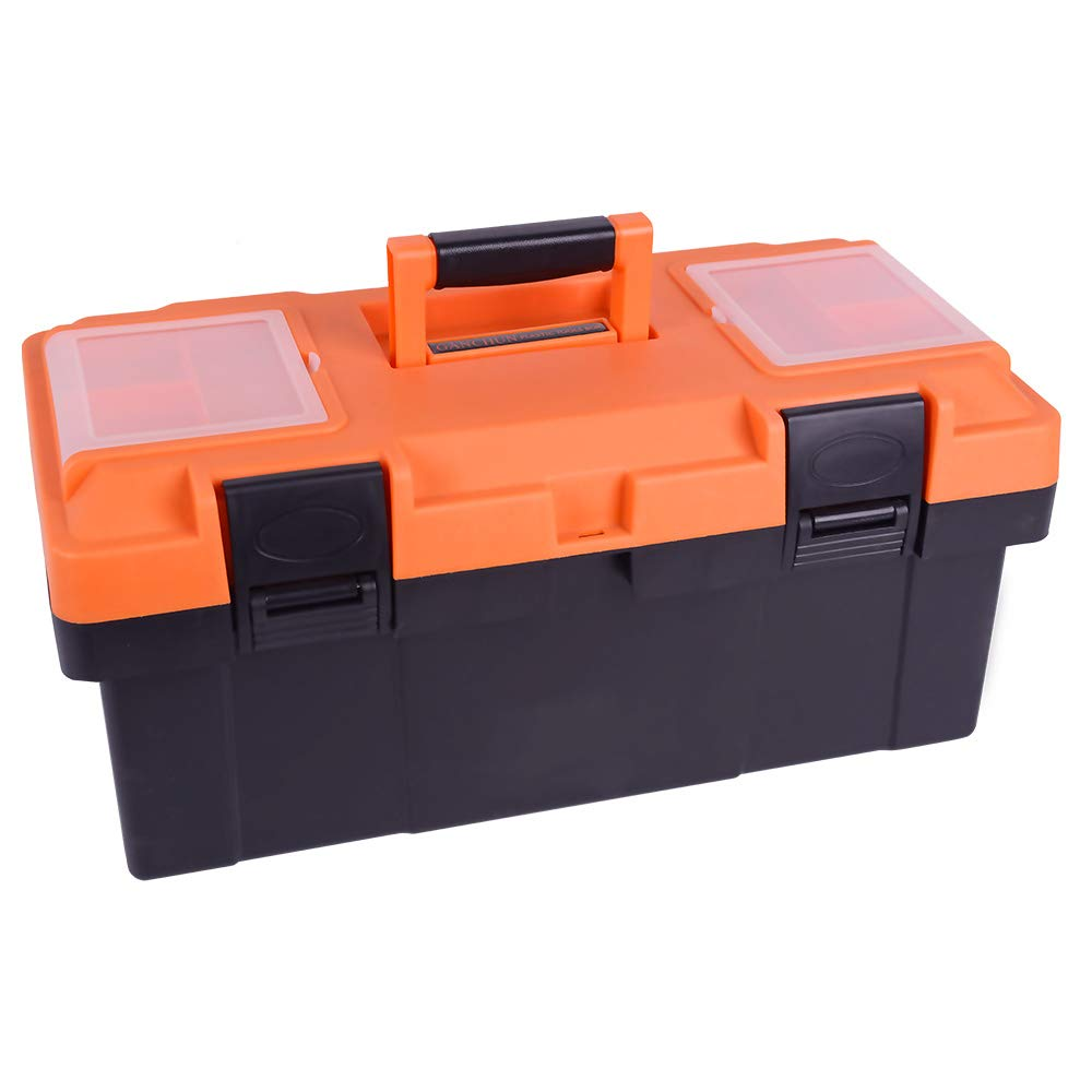 18-inch Toolbox,Consumer Storage and Craftsman Tool box for Tools,Craft Storage,Toys, Parts,Locking Lid and Extra Storage by GANCHUN