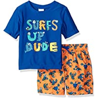 Kiko & Max Baby Boys Set with Short Sleeve Rashguard Swim Shirt