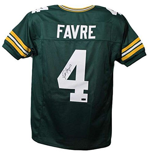 Brett Favre Autographed/Signed Green Bay Packers Green XL Jersey