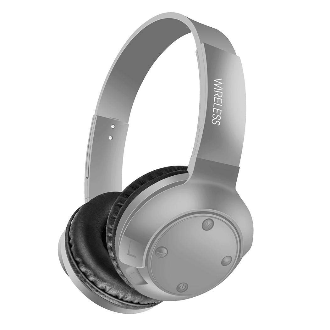 Acecor Bluetooth Headphones Over Ear, Hi-Fi Stereo Wireless Headset, Foldable, Soft Memory-Protein Earmuffs for Travel Work TV PC Cellphone