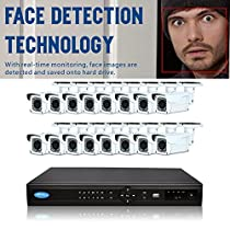 OwlTech 16 Channel Face Detection NVR up to 5MP Resolution + 16 x 3MP 2.8-12mm IP Bullet Camera with Smart IR + WDR + POE + 2TB HDD + 100ft cable and accessories