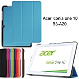 Acer Iconia One 10 B3-A20 Stand Case,Acer 10 B3-A20 Case,PU Leather Outer Cover Case Flip Cover for Acer Iconia One 10 B3-A20 10Inch-Light bule