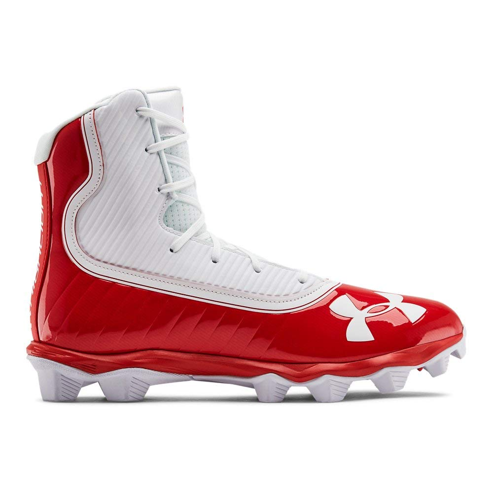Under Armour Men's Highlight RM Football Shoe, Red (600)/White, 7.5 M US