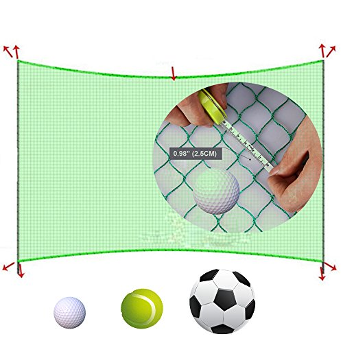10' High X 10' Wide Golf Barrier & Containment Netting, For Golf Baseball Softball Hockey Lacrosse Soccer Basketball Tennis Multipurpose-Free 100pcs Zip Ties Cable by Kofull (Image #5)