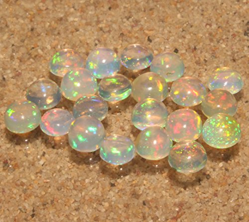 6 MM Natural Ethiopian Welo Fire Opal Round Shape Cabochon (Fire Opal Cabochon)