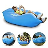 Inflatable Air Sofa Chair - Portable Lounger Couch & Air Hammock, Pool Float Lounge Chair - Ideal for Traveling, Camping or At Beaches – Waterproof & Lightweight – Includes Carry Bag (Sky Blue)