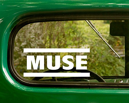 Muse Rock Band (2 MUSE Decal Rock Band Stickers White Die Cut For Window Car Jeep 4x4 Truck Laptop Bumper Rv)