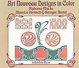 Art Nouveau Designs in Color, Alphonse M. Mucha and Georges Auriol, 0486228851