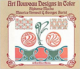 art nouveau designs in color alphonse mucha maurice verneuil