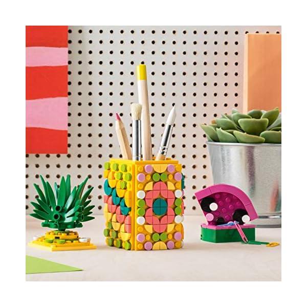 LEGO- Dots Portapenne Decora i Pannelli dell'Ananas e della Piccola Scatola Anguria ed Esponi Le tue Creazioni, Set di… 2 spesavip