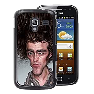 A-type Arte & diseño plástico duro Fundas Cover Cubre Hard Case Cover para Samsung Galaxy Ace 2 (Friends Show Joey Caricature Tv Actor)