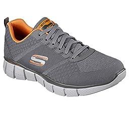 Skechers Equalizer 2.0 True Balance Charcoal/Orange Mens Training Sneaker Size 9M