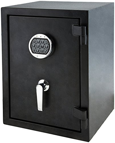 - AmazonBasics Fire Resistant Box Safe, 1.24 Cubic Feet