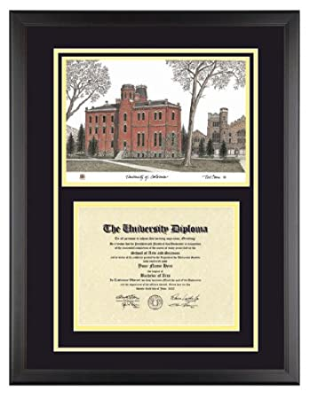 Amazon.com: UNIVERSITY OF COLORADO Diploma Frame with Artwork in ...